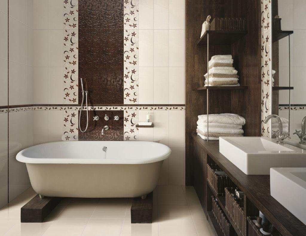 отделка стен в ванной фото
