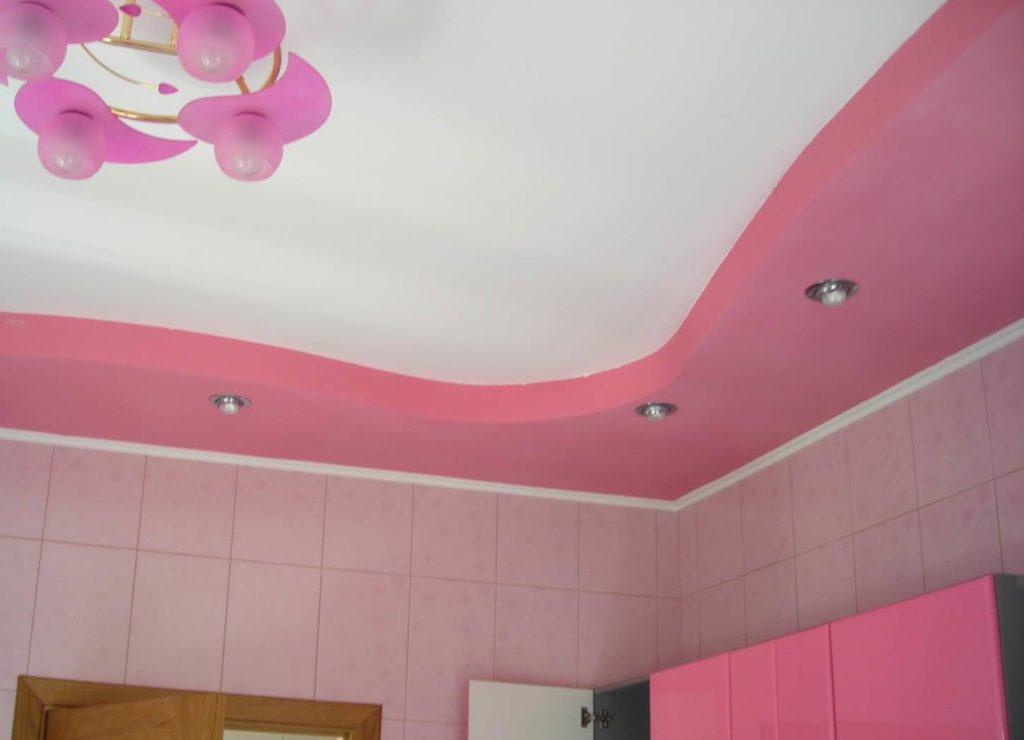 употребляла потолок из гипсокартона картинки покраска сроки
