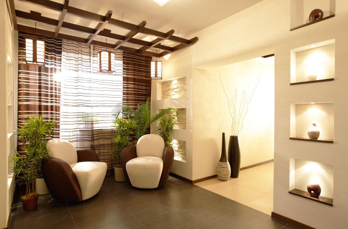 Дизайн интерьера в стиле эко фото